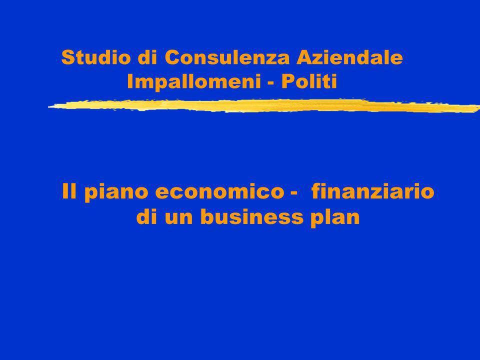 Studio di Consulenza Aziendale Impallomeni - Politi Il piano economico - finanziario di un business plan