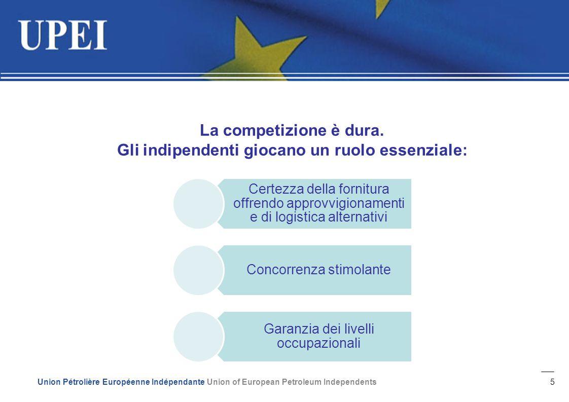 5 Union Pétrolière Européenne Indépendante Union of European Petroleum Independents La competizione è dura.
