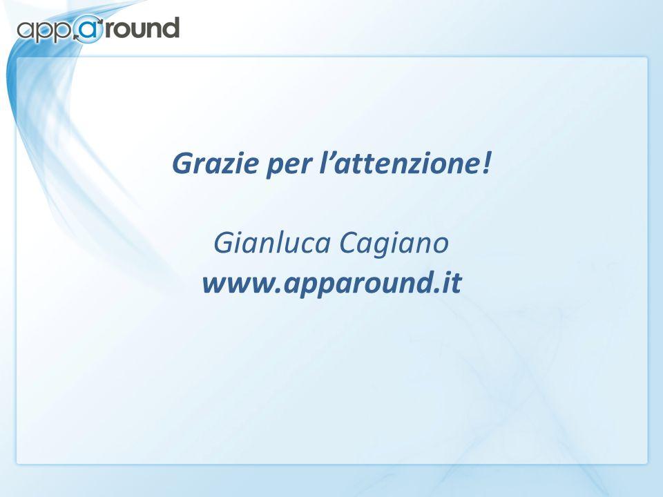 Grazie per lattenzione! Gianluca Cagiano www.apparound.it
