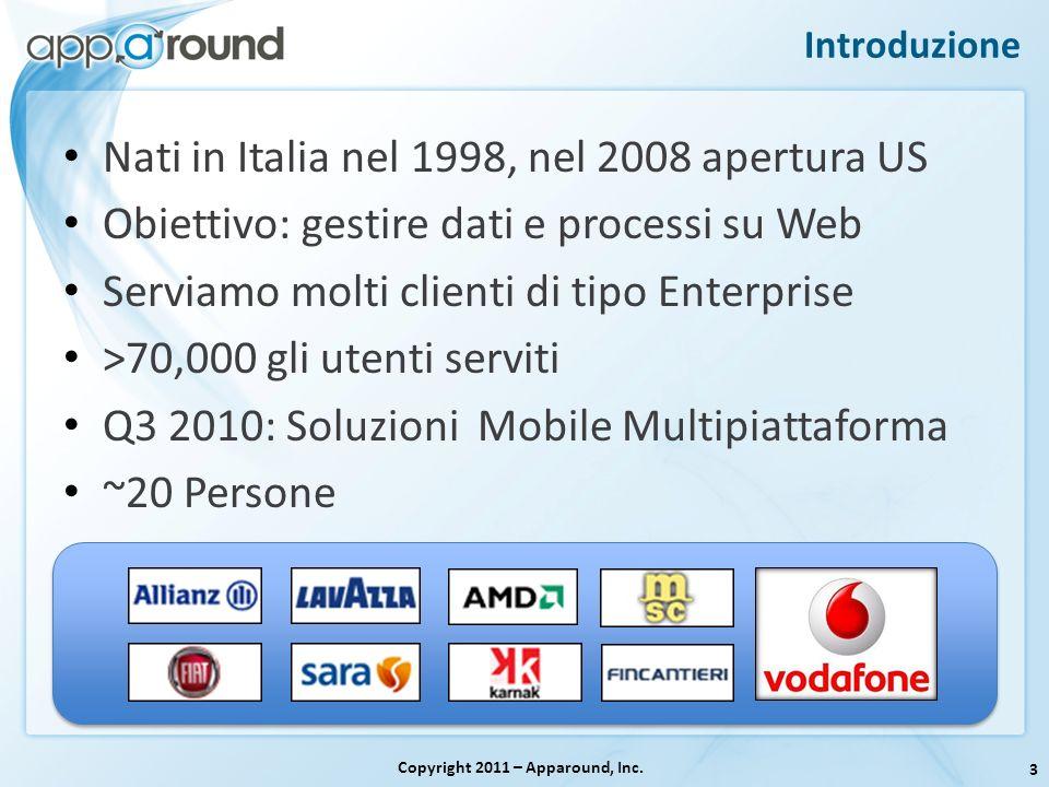 Introduzione Nati in Italia nel 1998, nel 2008 apertura US Obiettivo: gestire dati e processi su Web Serviamo molti clienti di tipo Enterprise >70,000