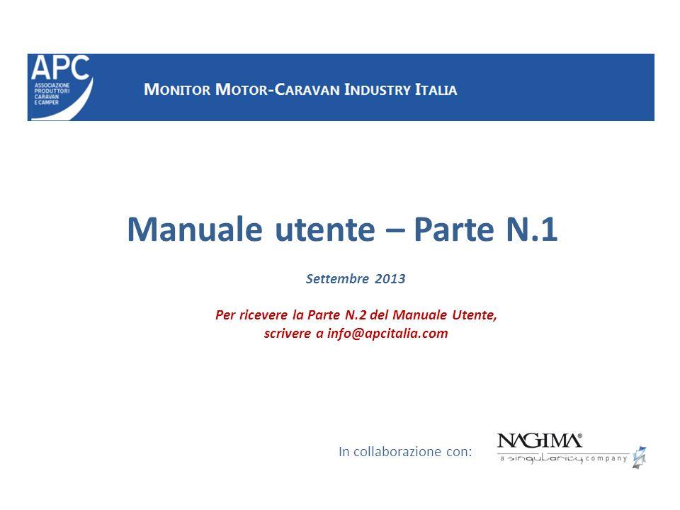 Manuale utente – Parte N.1 In collaborazione con: Settembre 2013 Per ricevere la Parte N.2 del Manuale Utente, scrivere a info@apcitalia.com