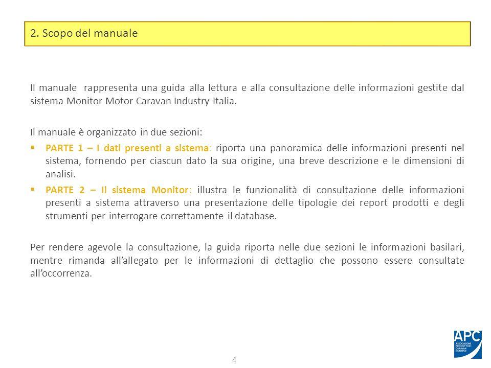 Il manuale rappresenta una guida alla lettura e alla consultazione delle informazioni gestite dal sistema Monitor Motor Caravan Industry Italia. Il ma