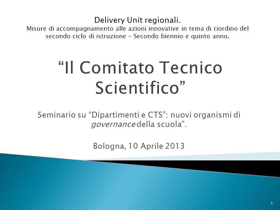 Seminario su Dipartimenti e CTS: nuovi organismi di governance della scuola.