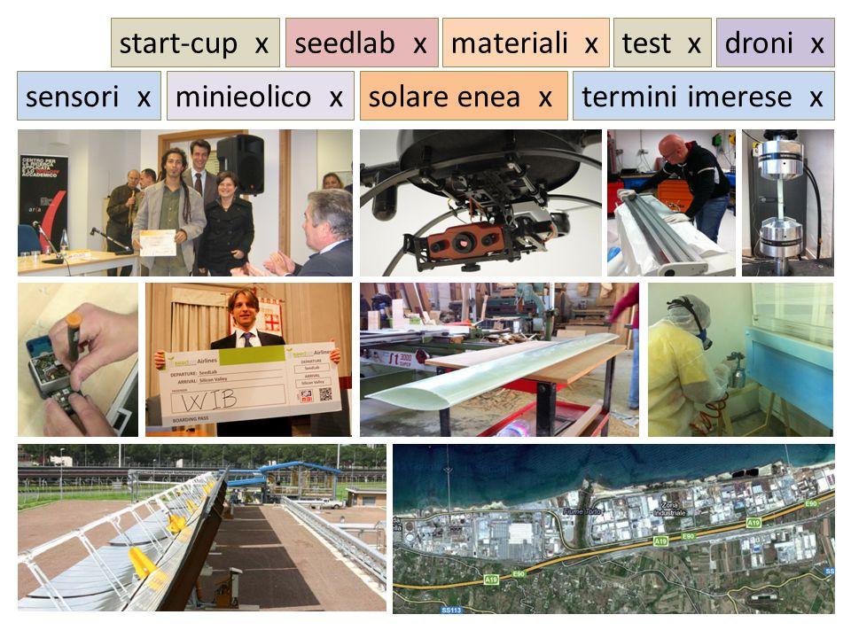 start-cup xdroni xtest x sensori x seedlab x minieolico xsolare enea x materiali x termini imerese x