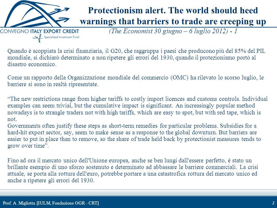 4 Protectionism alert.