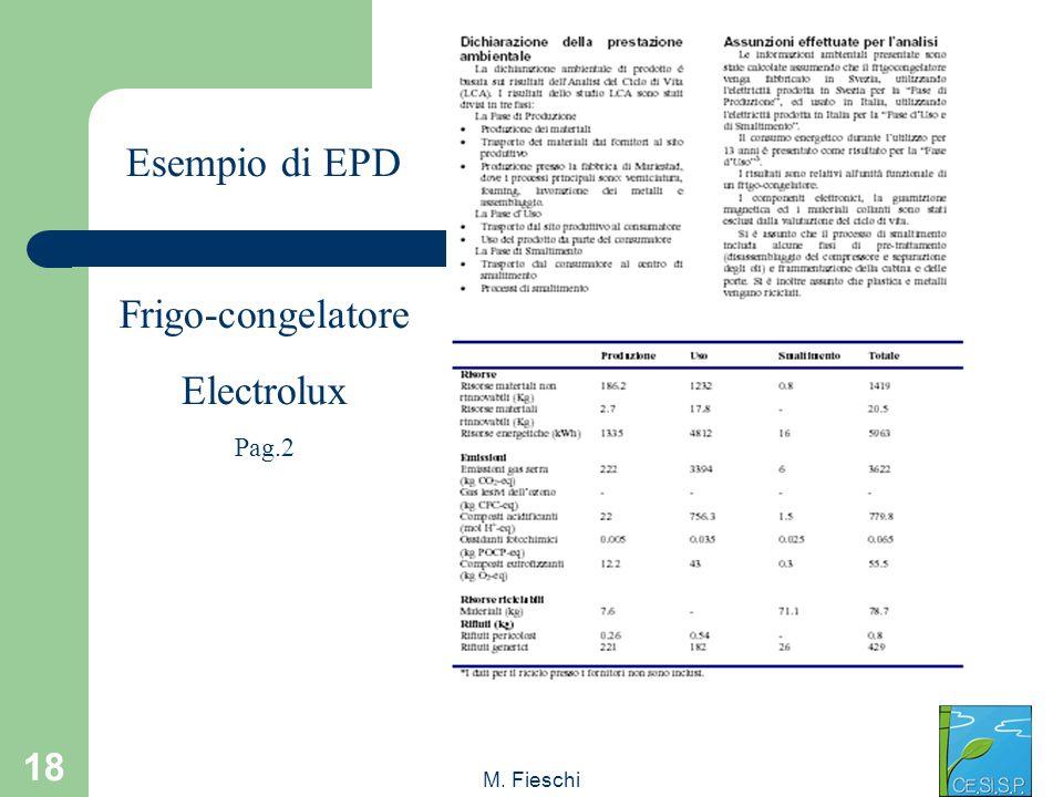 M. Fieschi 18 Esempio di EPD Frigo-congelatore Electrolux Pag.2