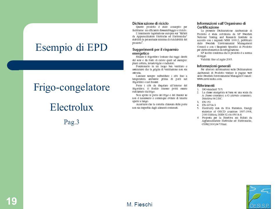 M. Fieschi 19 Esempio di EPD Frigo-congelatore Electrolux Pag.3