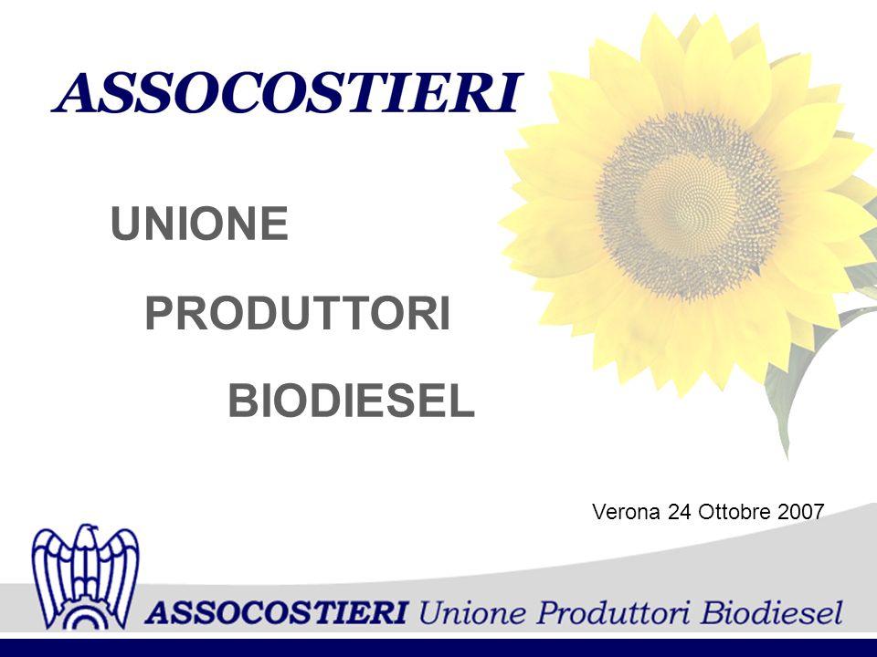 PRODUTTORI UNIONE BIODIESEL Verona 24 Ottobre 2007