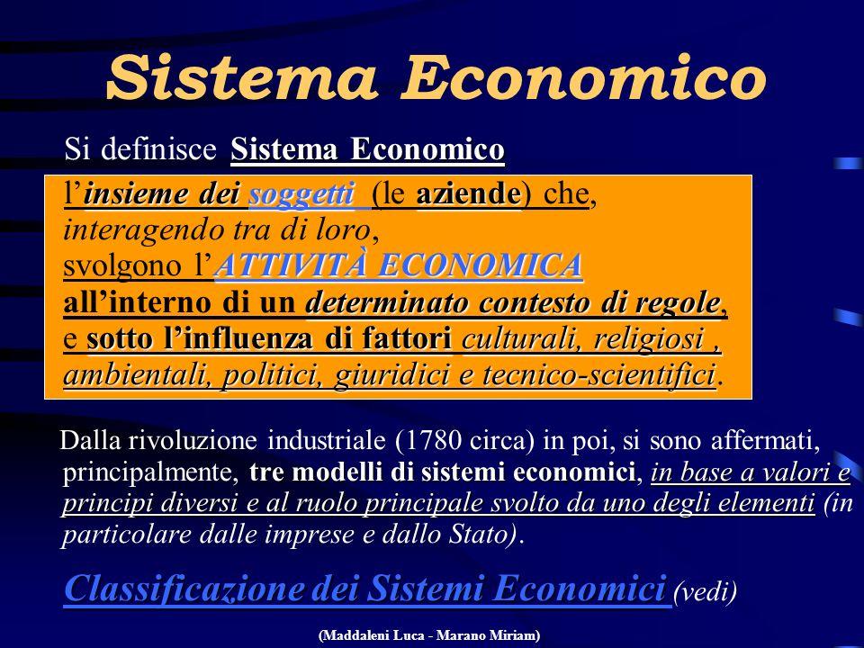 Sistema Economico Sistema Economico Si definisce Sistema Economico insieme dei soggettiaziende ATTIVITÀ ECONOMICA determinato contesto di regole sotto
