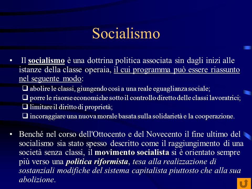 Socialismo socialismo Il socialismo è una dottrina politica associata sin dagli inizi alle istanze della classe operaia, il cui programma può essere r