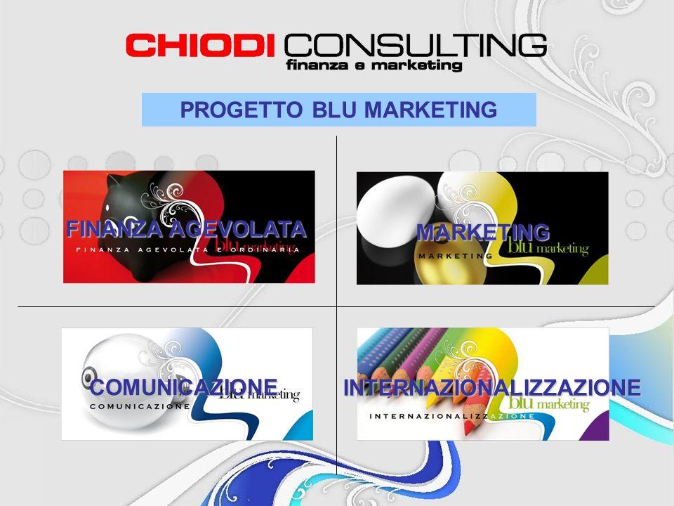 PROGETTO BLU MARKETING FINANZA AGEVOLATA MARKETING COMUNICAZIONE INTERNAZIONALIZZAZIONE