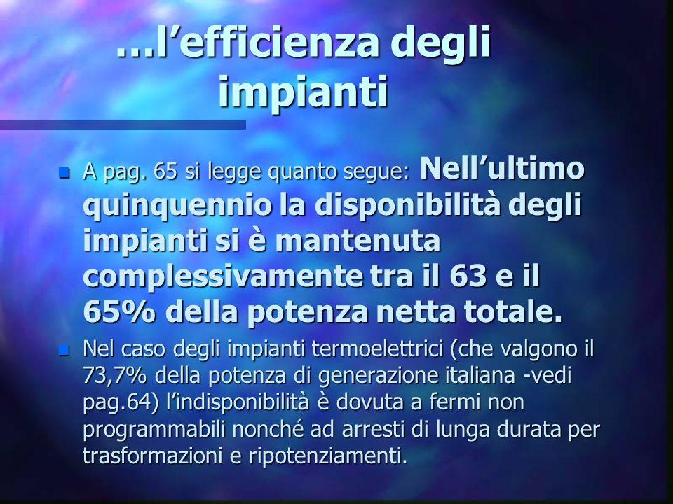 Gli impianti italiani sono già sufficienti a coprire le esigenze nazionali.