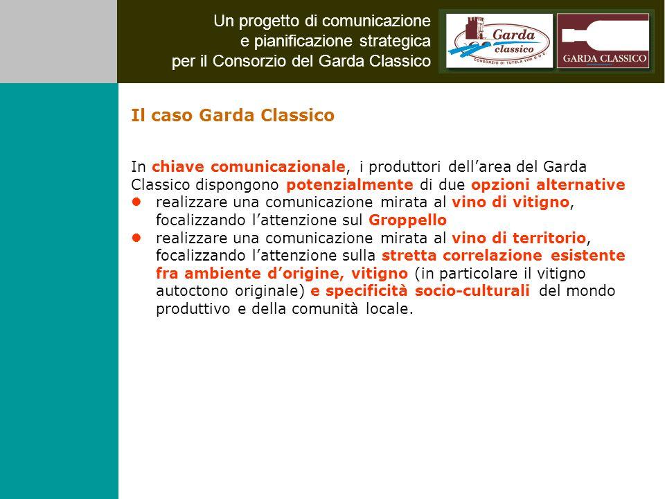 Un progetto di comunicazione e pianificazione strategica per il Consorzio del Garda Classico In chiave comunicazionale, i produttori dellarea del Gard