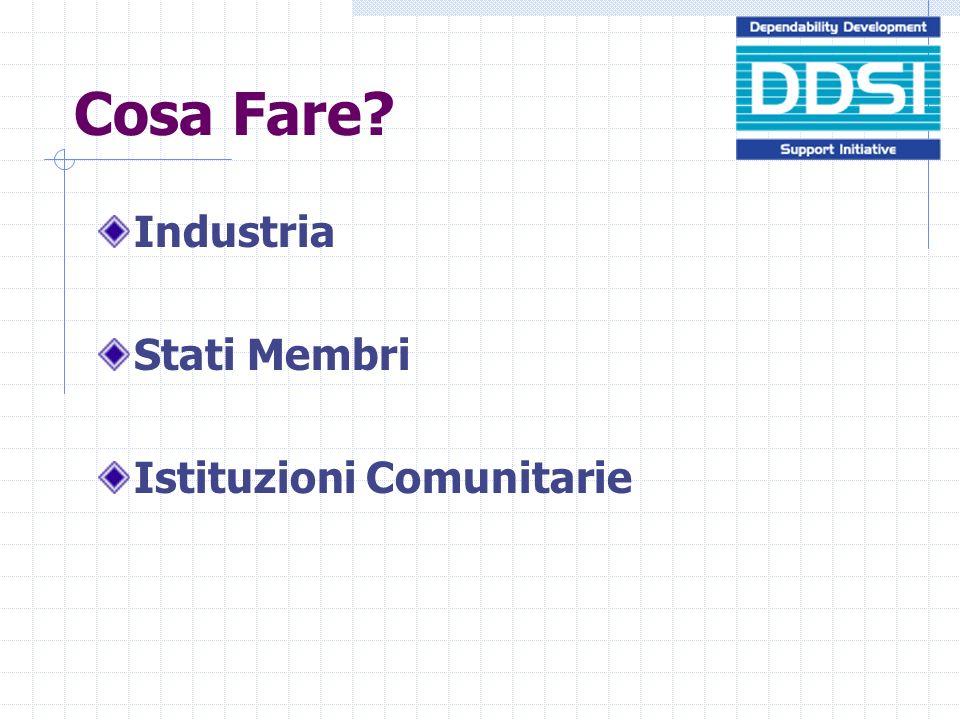 Cosa Fare? Industria Stati Membri Istituzioni Comunitarie
