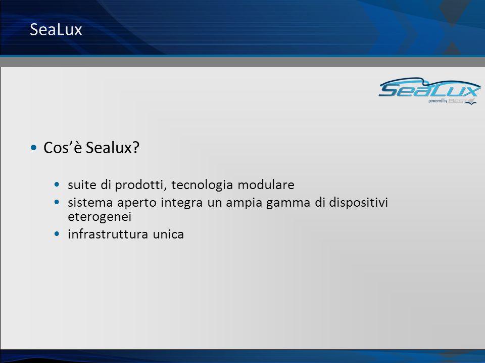 SeaLux Cosè Sealux? suite di prodotti, tecnologia modulare sistema aperto integra un ampia gamma di dispositivi eterogenei infrastruttura unica