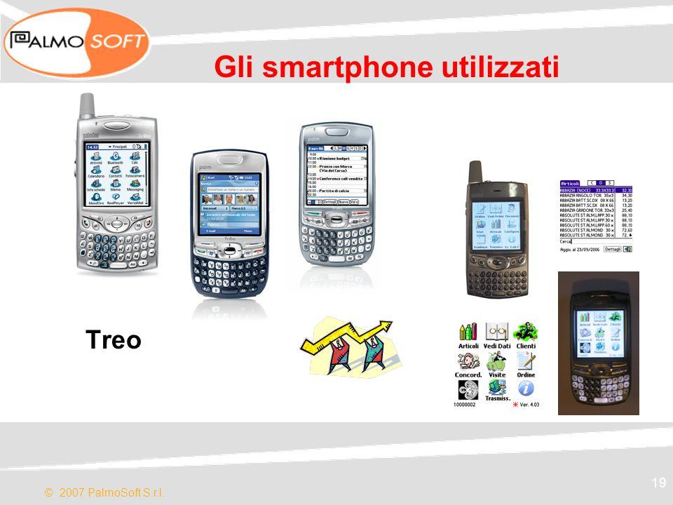 © 2007 PalmoSoft S.r.l. 19 Gli smartphone utilizzati Treo