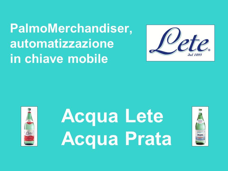 PalmoMerchandiser, automatizzazione in chiave mobile Acqua Lete Acqua Prata