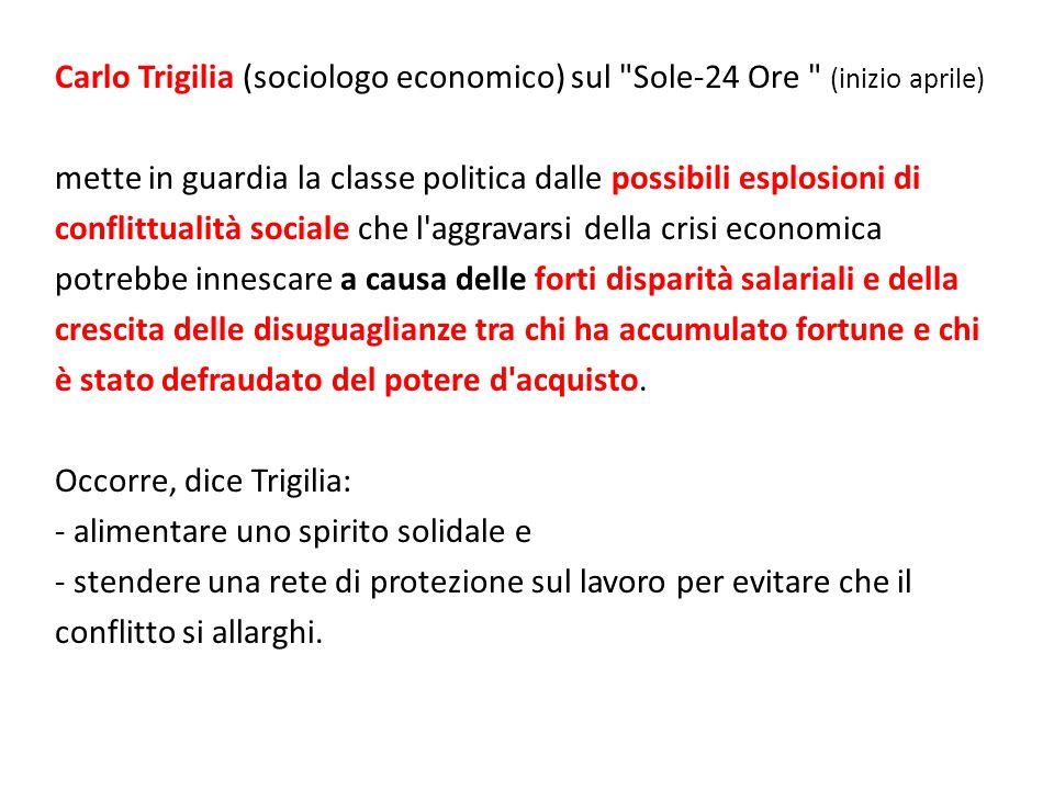 Carlo Trigilia (sociologo economico) sul