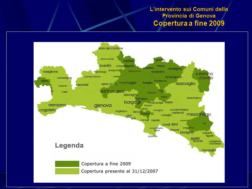 Lintervento sui Comuni della Provincia di Genova Copertura a fine 2009