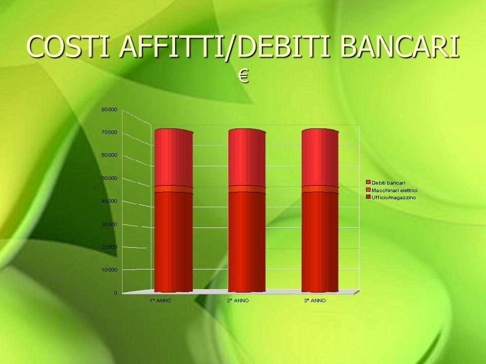 COSTI AFFITTI/DEBITI BANCARI COSTI AFFITTI/DEBITI BANCARI