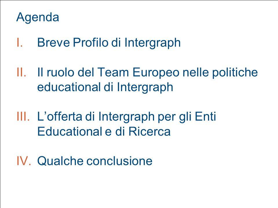III. Lofferta di Intergraph per gli Enti Educational e di Ricerca