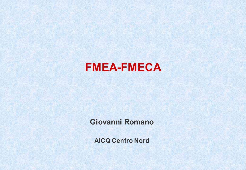 11 di 26 FMEA Romano Giovanni FMEA La FMEA fornisce un metodo per esaminare sistematicamente tutti i modi in cui una failure può presentarsi.