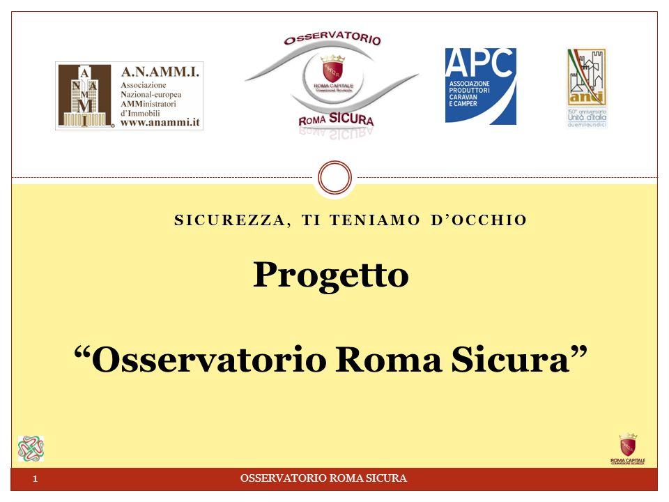 SICUREZZA, TI TENIAMO DOCCHIO Progetto Osservatorio Roma Sicura 1 OSSERVATORIO ROMA SICURA