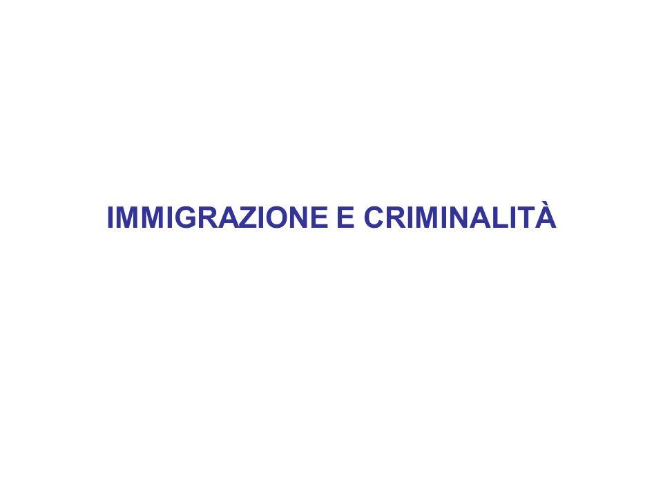 IMMIGRAZIONE E CRIMINALITÀ