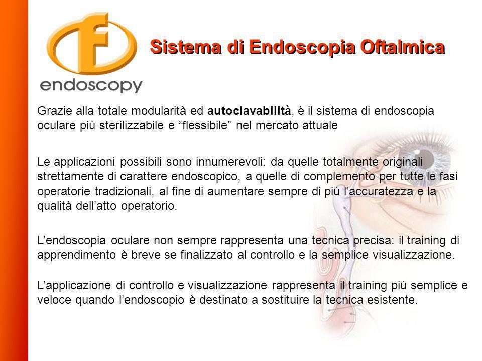 Grazie alla totale modularità ed autoclavabilità, è il sistema di endoscopia oculare più sterilizzabile e flessibile nel mercato attuale Le applicazio