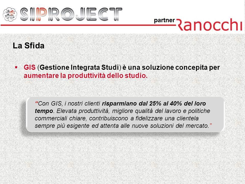 GIS (Gestione Integrata Studi) è una soluzione concepita per aumentare la produttività dello studio. Con GIS, i nostri clienti risparmiano dal 25% al
