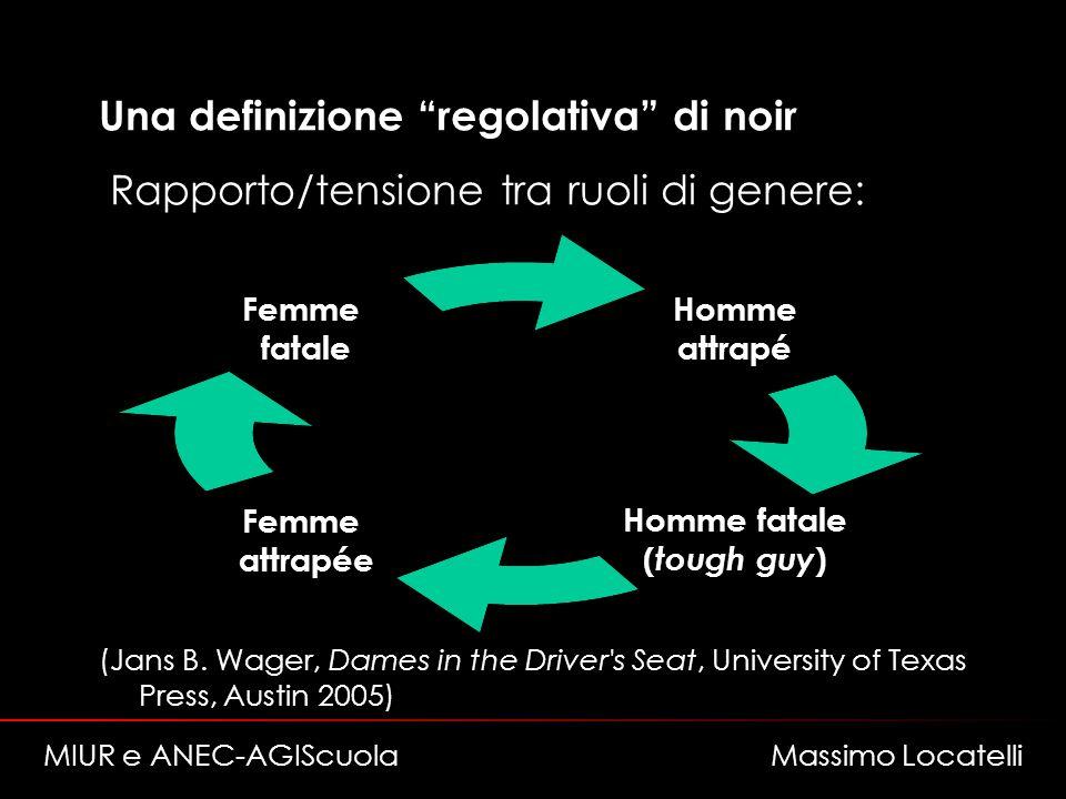 Una definizione regolativa di noir Rapporto/tensione tra ruoli di genere: (Jans B.