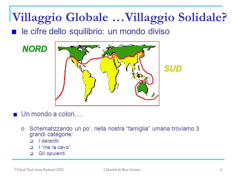 Villa di Teolo Anno Pastorale 2008 I Martedi del Bene Comune 4 Un mondo a colori….