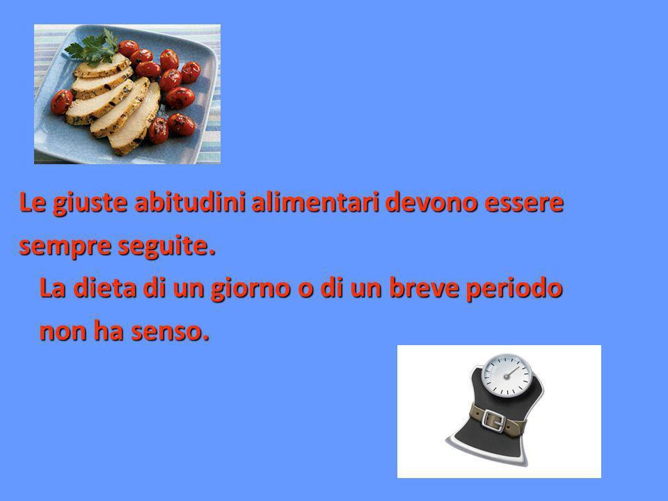 Le giuste abitudini alimentari devono essere sempre seguite. La dieta di un giorno o di un breve periodo La dieta di un giorno o di un breve periodo n