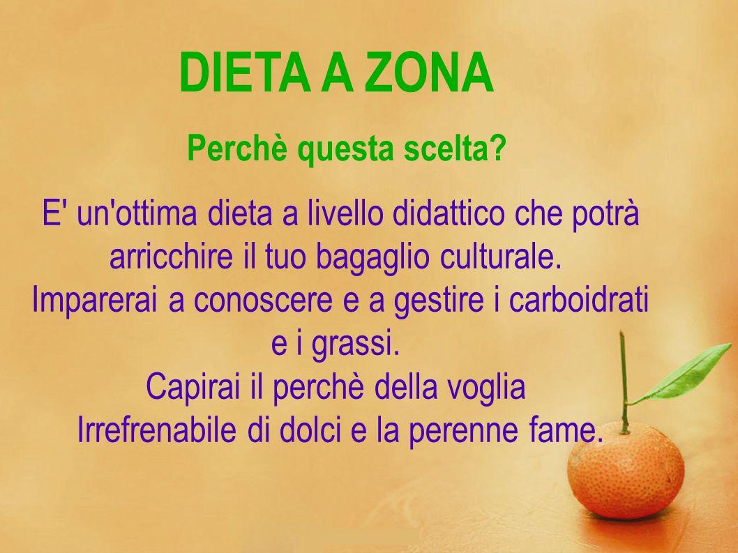 DIETA A ZONA E' un'ottima dieta a livello didattico che potrà arricchire il tuo bagaglio culturale. Imparerai a conoscere e a gestire i carboidrati e