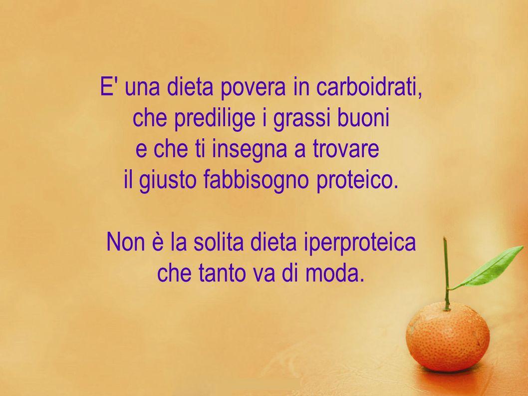 E' una dieta povera in carboidrati, che predilige i grassi buoni e che ti insegna a trovare il giusto fabbisogno proteico. Non è la solita dieta iperp