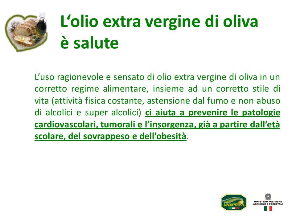 Lolio extra vergine di oliva è salute Luso ragionevole e sensato di olio extra vergine di oliva in un corretto regime alimentare, insieme ad un corret