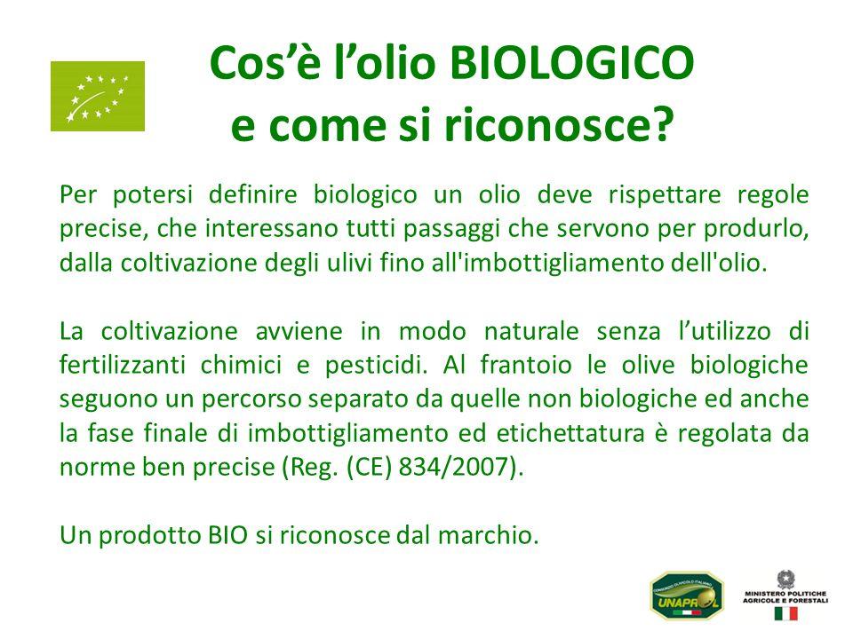 Cosè lolio BIOLOGICO e come si riconosce? Per potersi definire biologico un olio deve rispettare regole precise, che interessano tutti passaggi che se