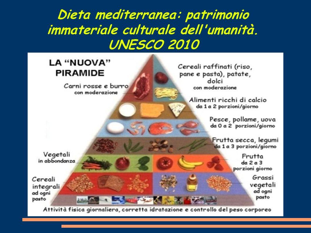 Dieta mediterranea: patrimonio immateriale culturale dell'umanità. UNESCO 2010