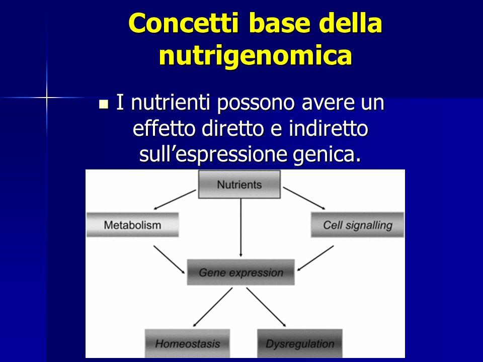 I nutrienti possono avere un effetto diretto e indiretto sullespressione genica.