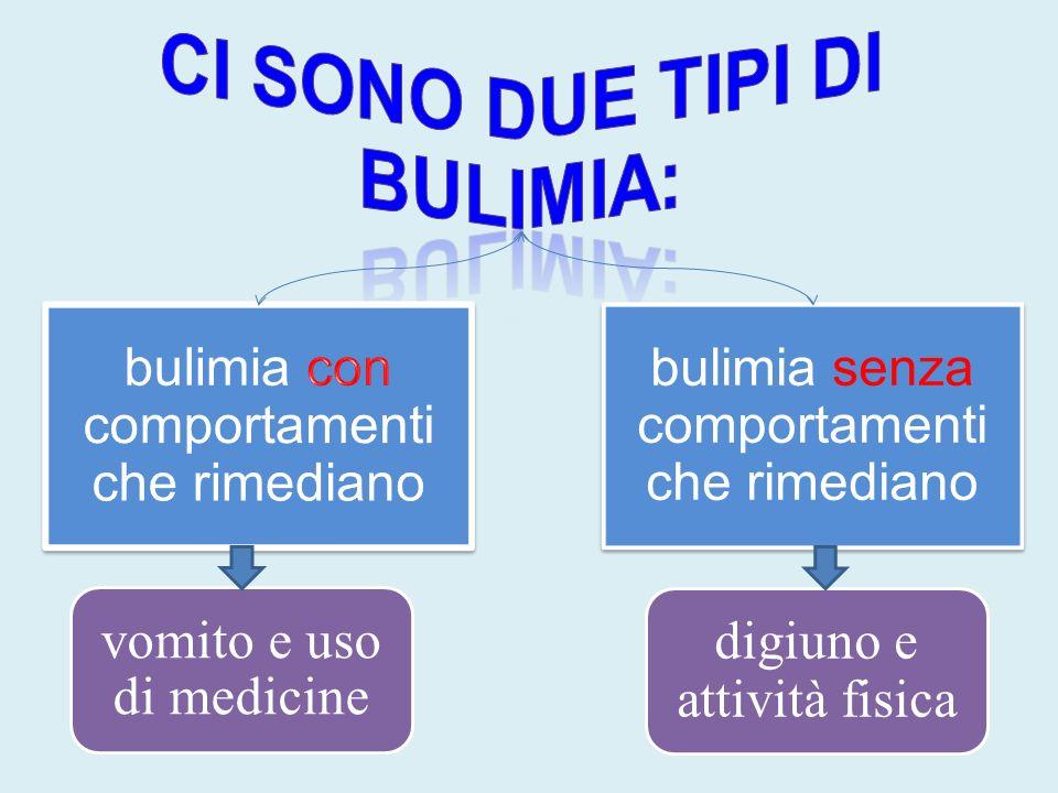 vomito e uso di medicine bulimia senza comportamenti che rimediano digiuno e attività fisica