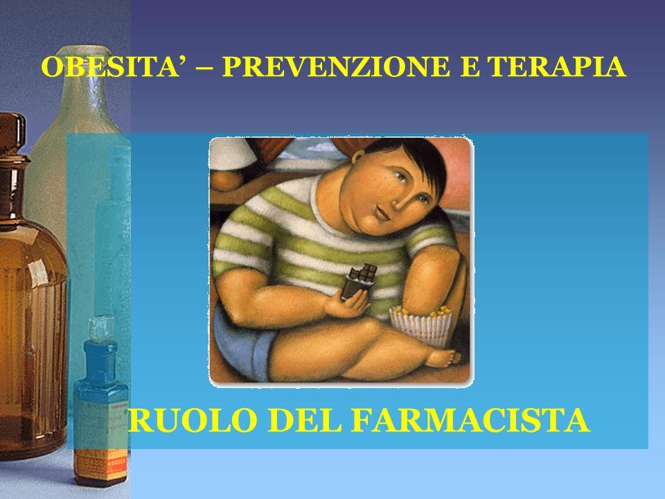 RUOLO DEL FARMACISTA OBESITA – PREVENZIONE E TERAPIA