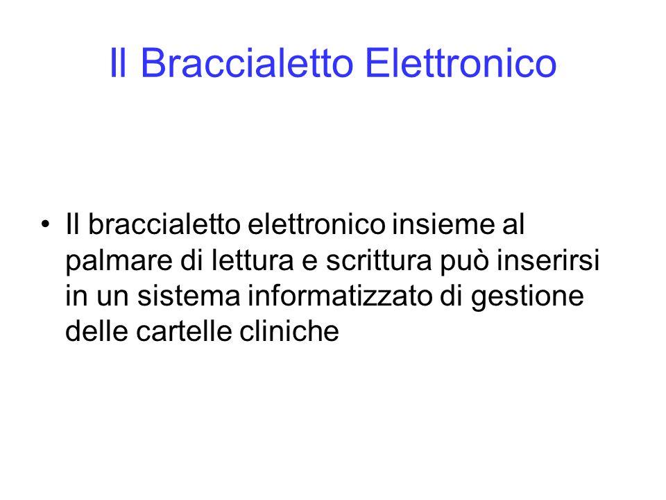 Il Braccialetto Elettronico Il braccialetto elettronico insieme al palmare di lettura e scrittura può inserirsi in un sistema informatizzato di gestio