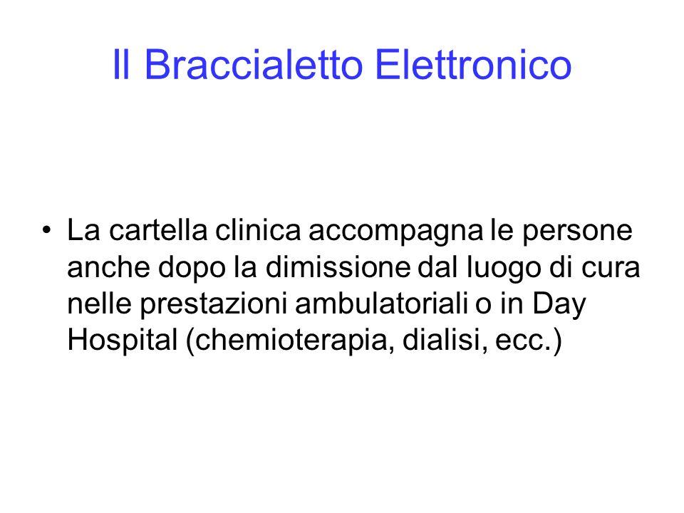 Il Braccialetto Elettronico La cartella clinica accompagna le persone anche dopo la dimissione dal luogo di cura nelle prestazioni ambulatoriali o in