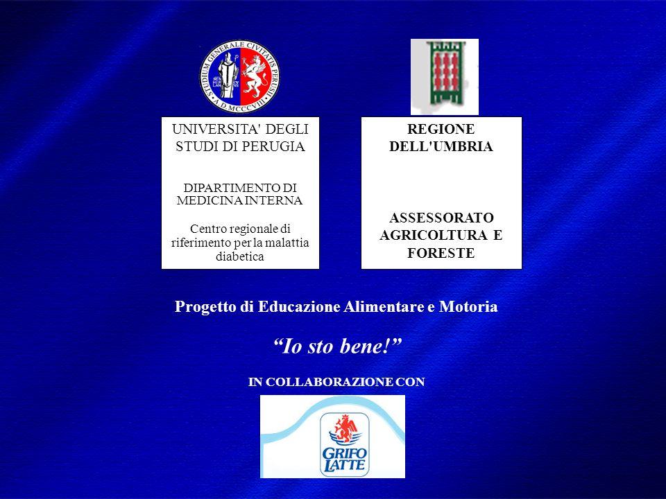 DIMISEM Perugia 2002 Progetto di Educazione Alimentare e Motoria Io sto bene.