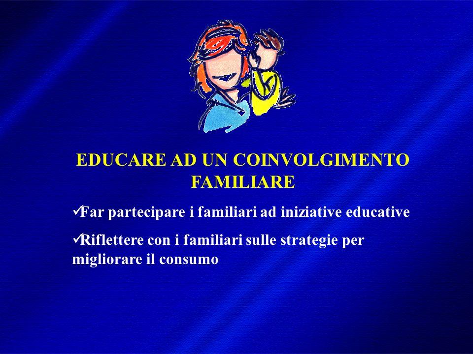 DIMISEM Perugia 2002 EDUCARE AD UN COINVOLGIMENTO FAMILIARE Far partecipare i familiari ad iniziative educative Riflettere con i familiari sulle strategie per migliorare il consumo