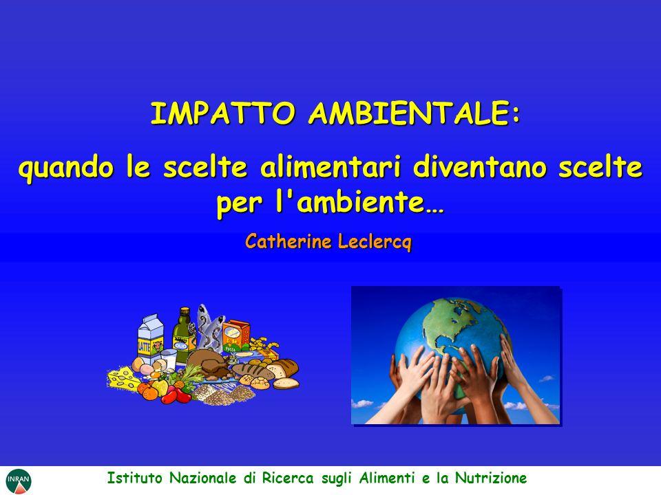 IMPATTO AMBIENTALE: IMPATTO AMBIENTALE: quando le scelte alimentari diventano scelte per l'ambiente… Catherine Leclercq Istituto Nazionale di Ricerca