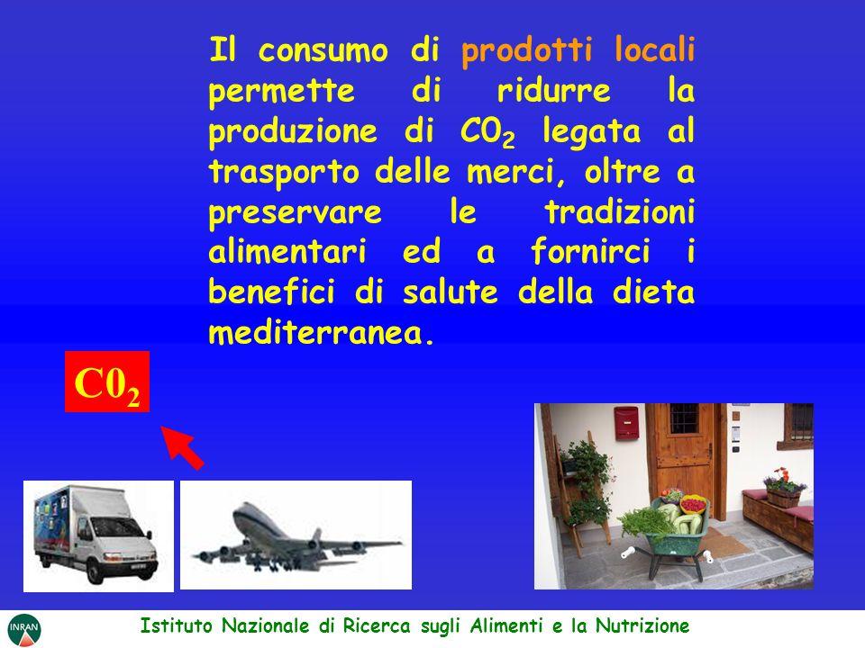 Il consumo di prodotti locali permette di ridurre la produzione di C0 2 legata al trasporto delle merci, oltre a preservare le tradizioni alimentari e