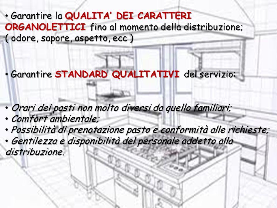 Garantire la QUALITA DEI CARATTERI ORGANOLETTICI fino al momento della distribuzione; Garantire la QUALITA DEI CARATTERI ORGANOLETTICI fino al momento