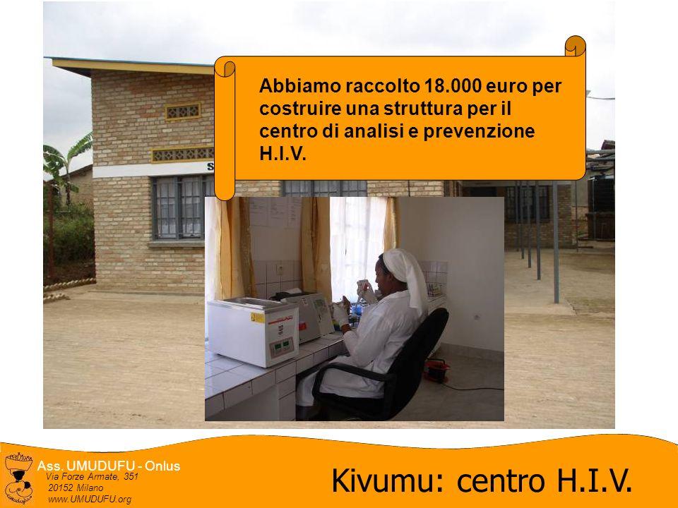 Ass.UMUDUFU - Onlus Via Forze Armate, 351 20152 Milano www.UMUDUFU.org Kivumu: centro H.I.V.
