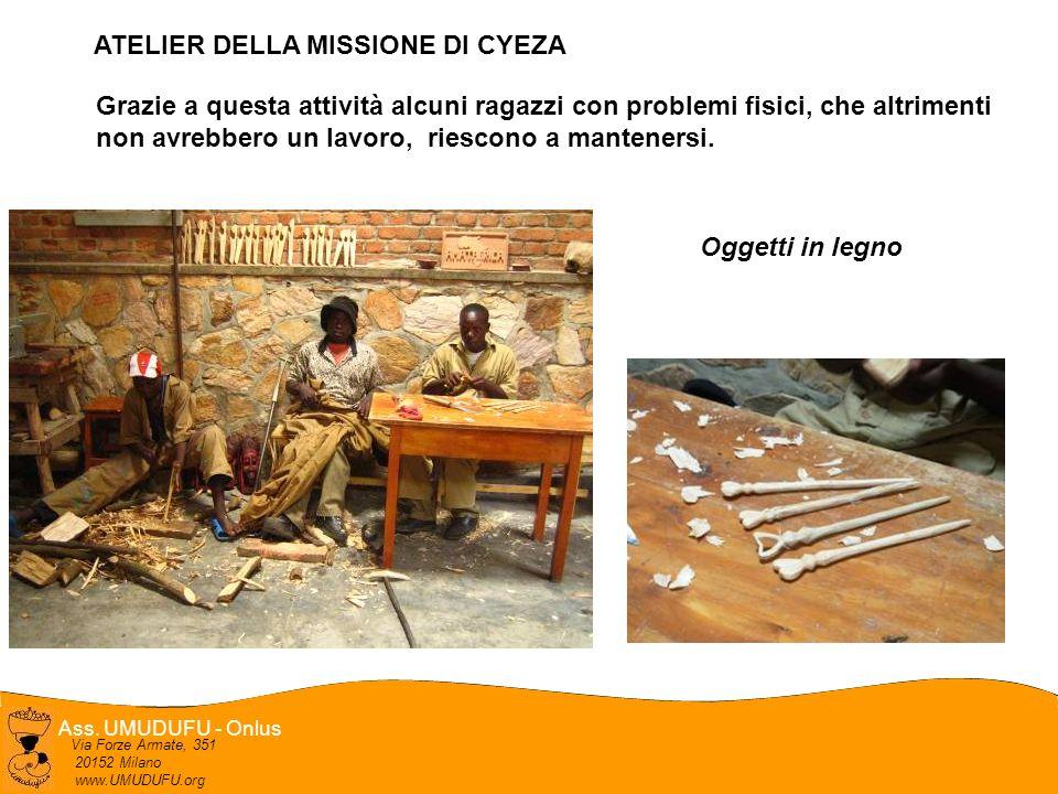 Ass. UMUDUFU - Onlus Via Forze Armate, 351 20152 Milano www.UMUDUFU.org Grazie a questa attività alcuni ragazzi con problemi fisici, che altrimenti no